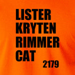 Red Dwarf - Lister Kryten Rimmer Cat 2179 - Men's T Shirt