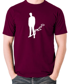 The Saint - Silhouette - Men's T Shirt - burgundy