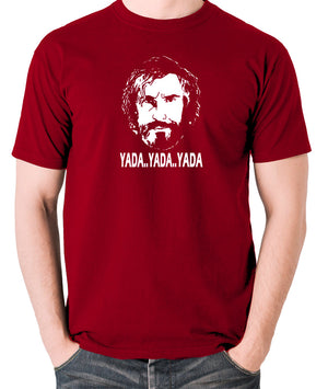 Saxondale, Steve Coogan - Yada Yada Yada - Men's T Shirt - brick red