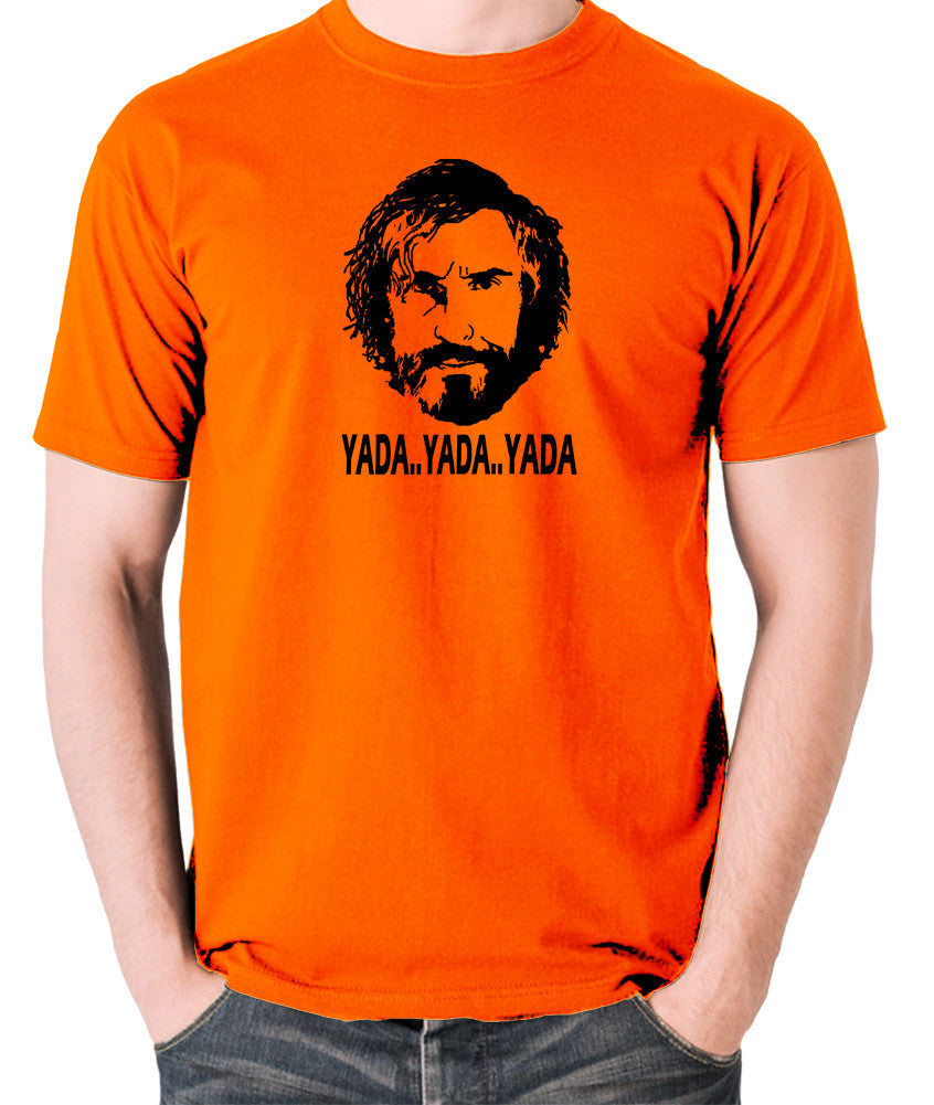 Saxondale, Steve Coogan - Yada Yada Yada - Men's T Shirt - orange