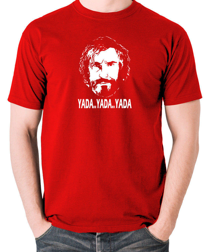 Saxondale, Steve Coogan - Yada Yada Yada - Men's T Shirt - red