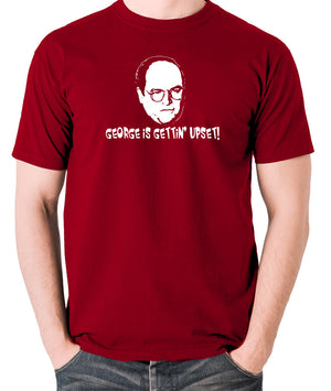 Seinfeld - George Costanza, George Is Gettin' Upset - Men's T Shirt - brick red