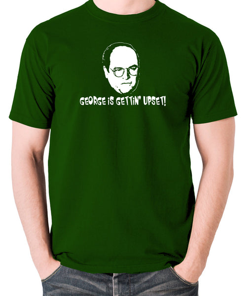 Seinfeld - George Costanza, George Is Gettin' Upset - Men's T Shirt - green
