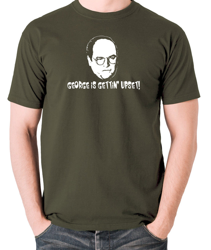 Seinfeld - George Costanza, George Is Gettin' Upset - Men's T Shirt - olive
