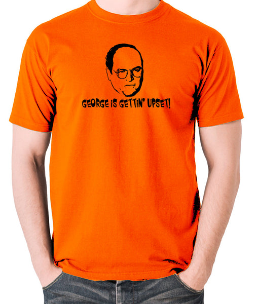 Seinfeld - George Costanza, George Is Gettin' Upset - Men's T Shirt - orange