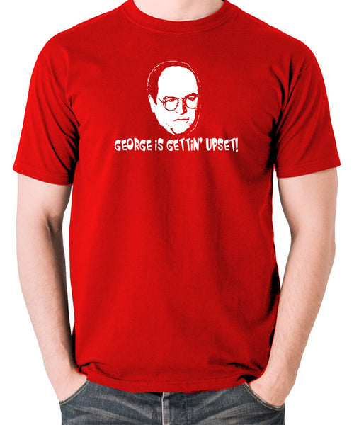 Seinfeld - George Costanza, George Is Gettin' Upset - Men's T Shirt - red