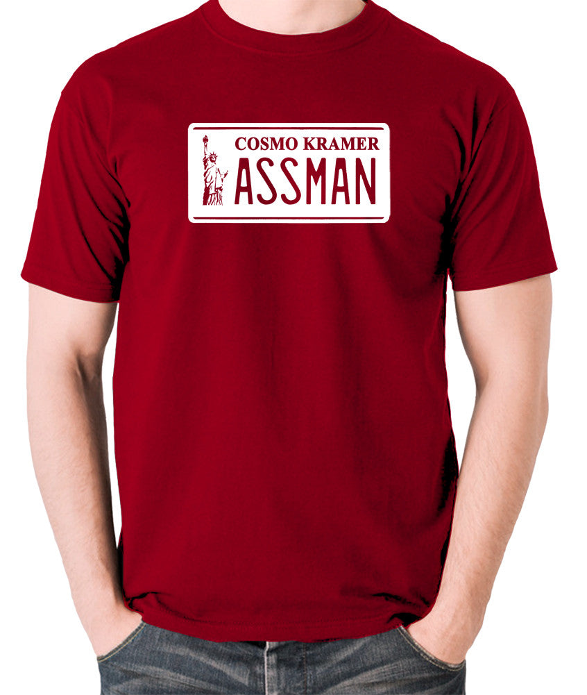 Seinfeld - Cosmo Kramer Assman - Men's T Shirt - brick red