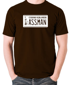 Seinfeld - Cosmo Kramer Assman - Men's T Shirt - chocolate