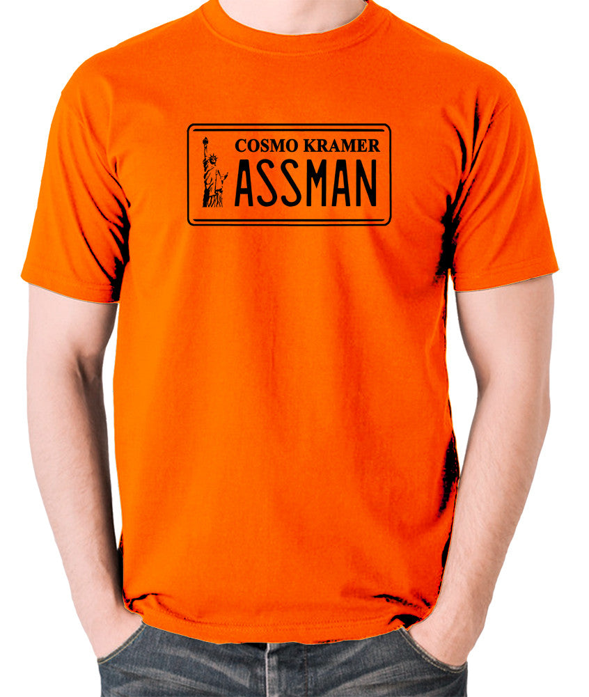 Seinfeld - Cosmo Kramer Assman - Men's T Shirt - orange