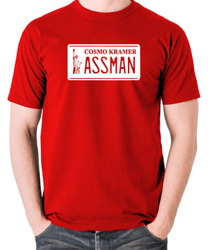 Seinfeld - Cosmo Kramer Assman - Men's T Shirt - red