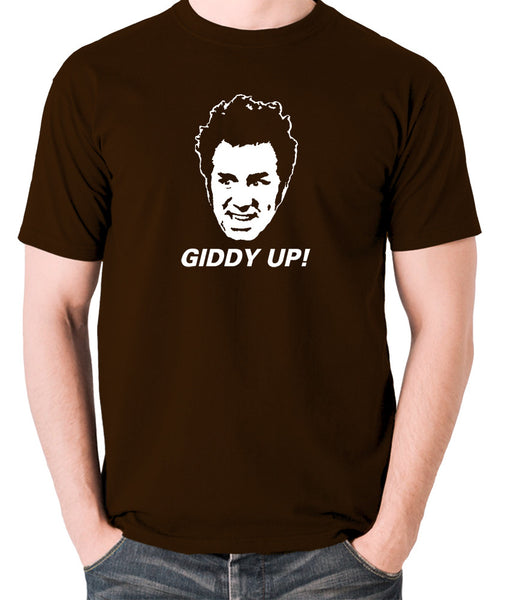 Seinfeld - Cosmo Kramer Giddy Up - Men's T Shirt - chocolate