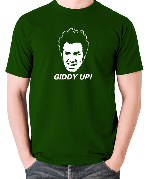 Seinfeld - Cosmo Kramer Giddy Up - Men's T Shirt - green