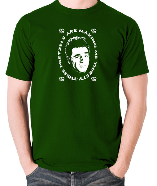 Seinfeld - Kramer, These Pretzels Are Making Me Thirsty - Men's T Shirt - green