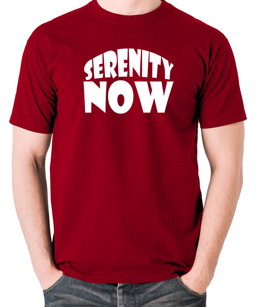 Seinfeld - George Costanza, Serenity Now - Men's T Shirt - brick red