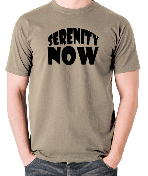 Seinfeld - George Costanza, Serenity Now - Men's T Shirt - khaki