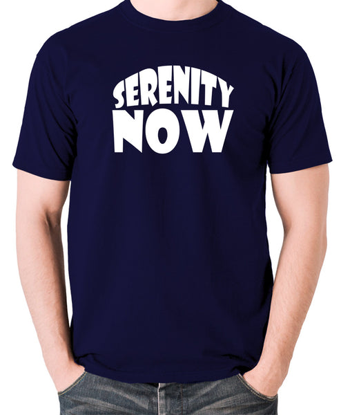 Seinfeld - George Costanza, Serenity Now - Men's T Shirt - navy
