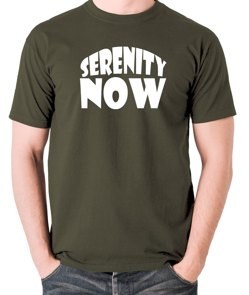 Seinfeld - George Costanza, Serenity Now - Men's T Shirt - olive
