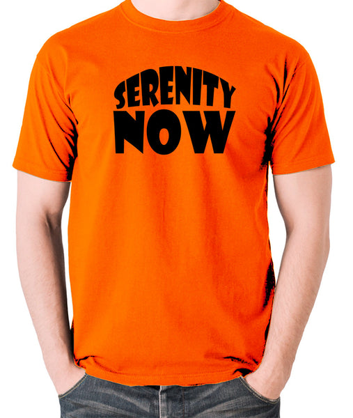 Seinfeld - George Costanza, Serenity Now - Men's T Shirt - orange