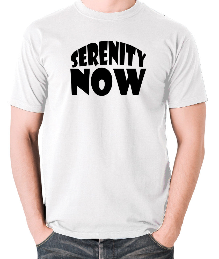 Seinfeld - George Costanza, Serenity Now - Men's T Shirt - white
