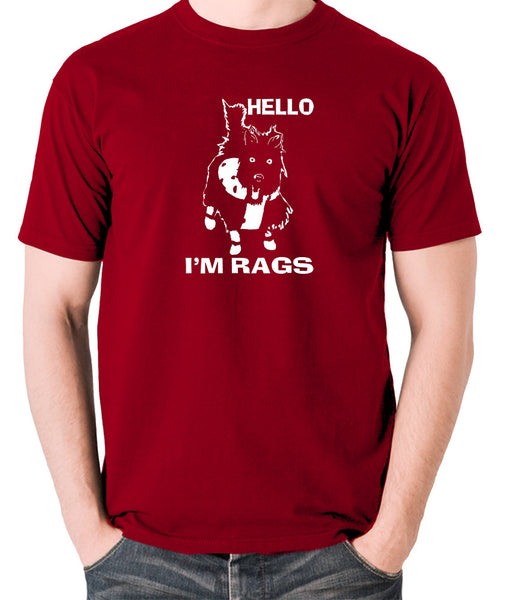 Sleeper - Hello I'm Rags - Men's T Shirt - brick red