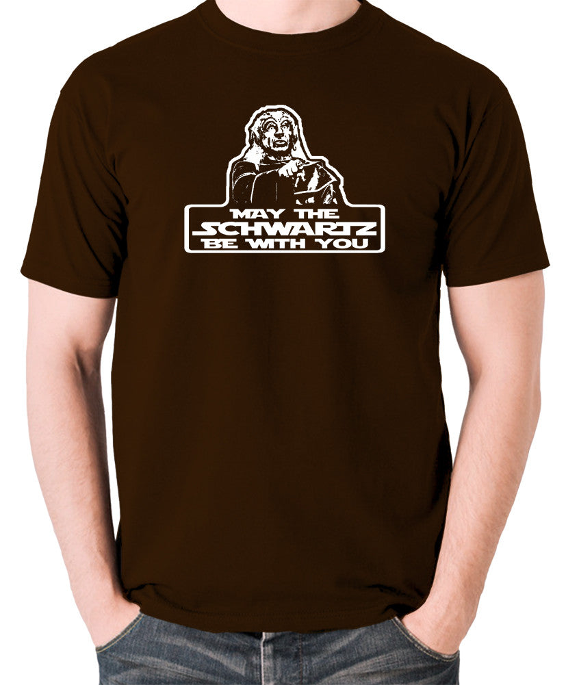 Spaceballs - Yogurt, May The Schwartz Be With You - Men's T Shirt - chocolate