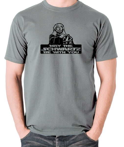 Spaceballs - Yogurt, May The Schwartz Be With You - Men's T Shirt - grey