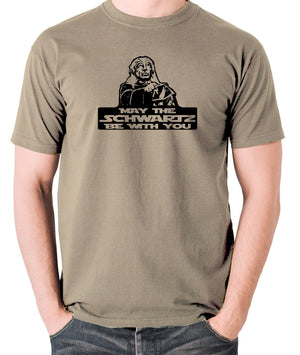 Spaceballs - Yogurt, May The Schwartz Be With You - Men's T Shirt - khaki