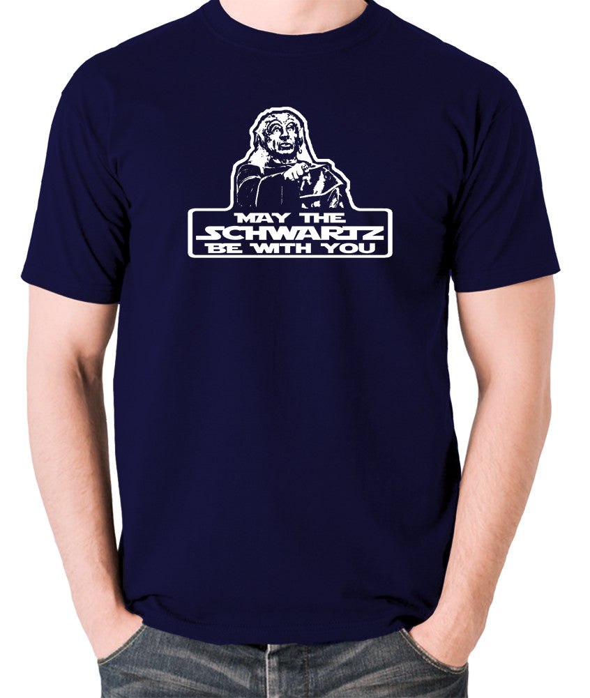Spaceballs - Yogurt, May The Schwartz Be With You - Men's T Shirt - navy
