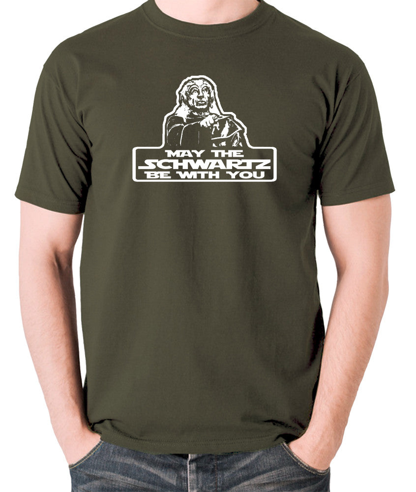 Spaceballs - Yogurt, May The Schwartz Be With You - Men's T Shirt - olive