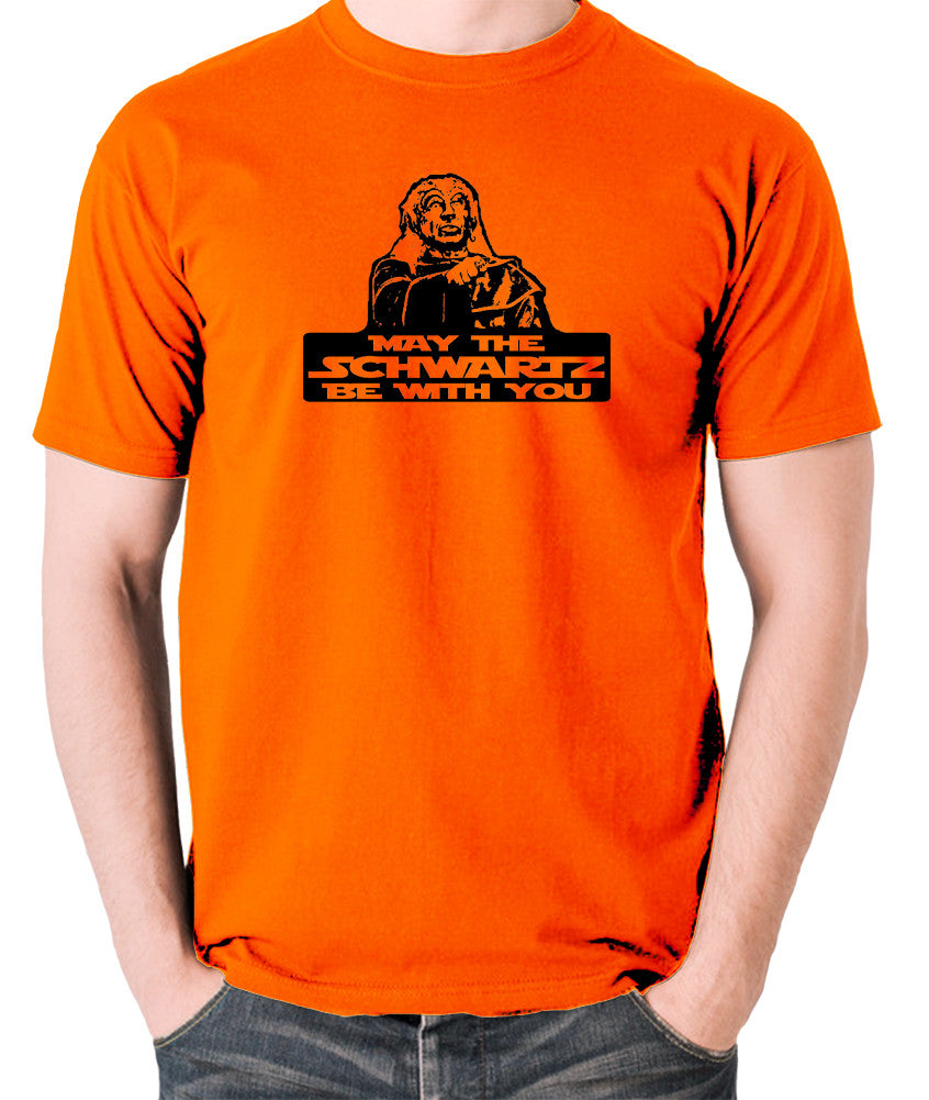 Spaceballs - Yogurt, May The Schwartz Be With You - Men's T Shirt - orange