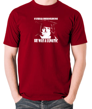 Spike Milligan - My Father Had A Profound Influence On Me, He Was A Lunatic - Men's T Shirt - brick red