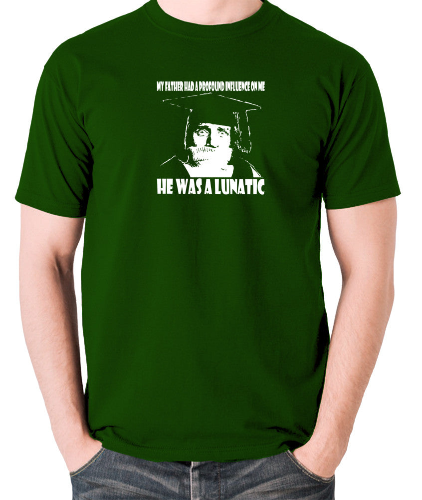 Spike Milligan - My Father Had A Profound Influence On Me, He Was A Lunatic - Men's T Shirt - green