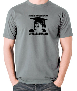 Spike Milligan - My Father Had A Profound Influence On Me, He Was A Lunatic - Men's T Shirt - grey