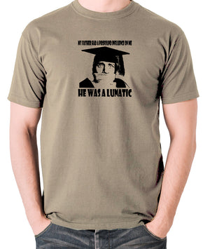 Spike Milligan - My Father Had A Profound Influence On Me, He Was A Lunatic - Men's T Shirt - khaki