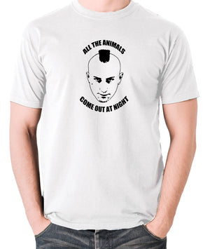Taxi Driver - Travis Bickle, All The Animals Come Out At Night - Men's T Shirt - white