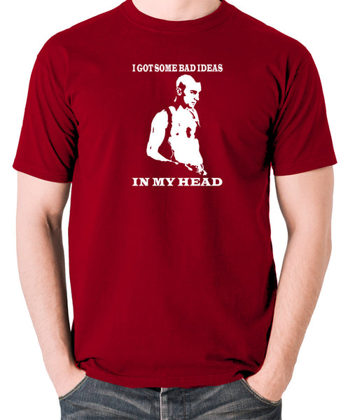 Taxi Driver - Travis Bickle, I Got Some Bad Ideas In My Head - Men's T Shirt - brick red