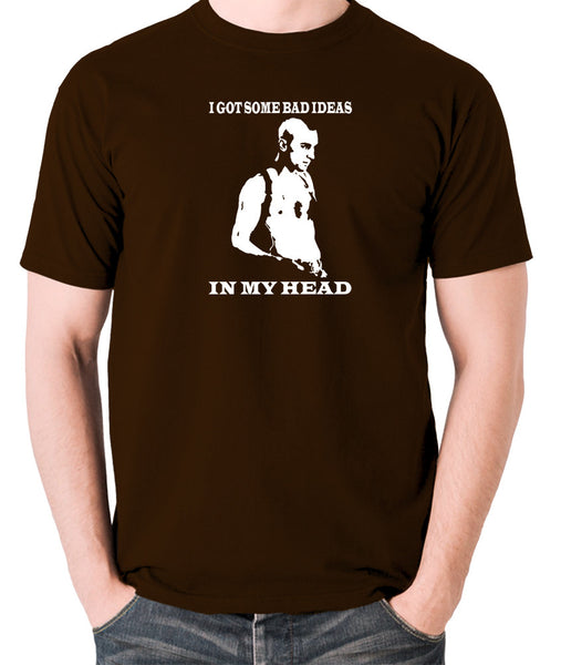 Taxi Driver - Travis Bickle, I Got Some Bad Ideas In My Head - Men's T Shirt - chocolate