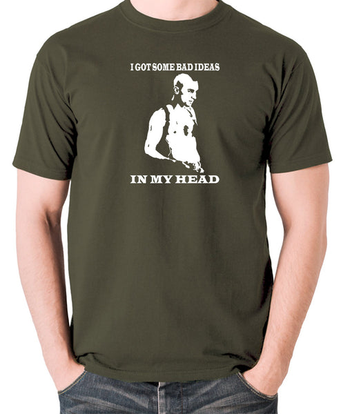 Taxi Driver - Travis Bickle, I Got Some Bad Ideas In My Head - Men's T Shirt - olive