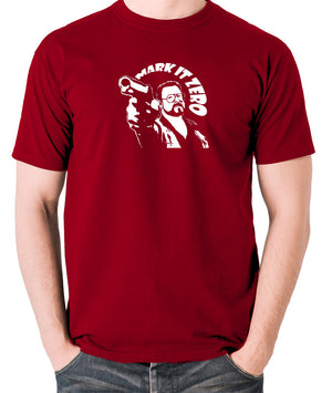 The Big Lebowski - Mark It Zero - Men's T Shirt - brick red