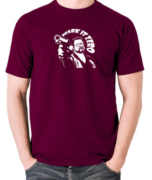The Big Lebowski - Mark It Zero - Men's T Shirt - burgundy
