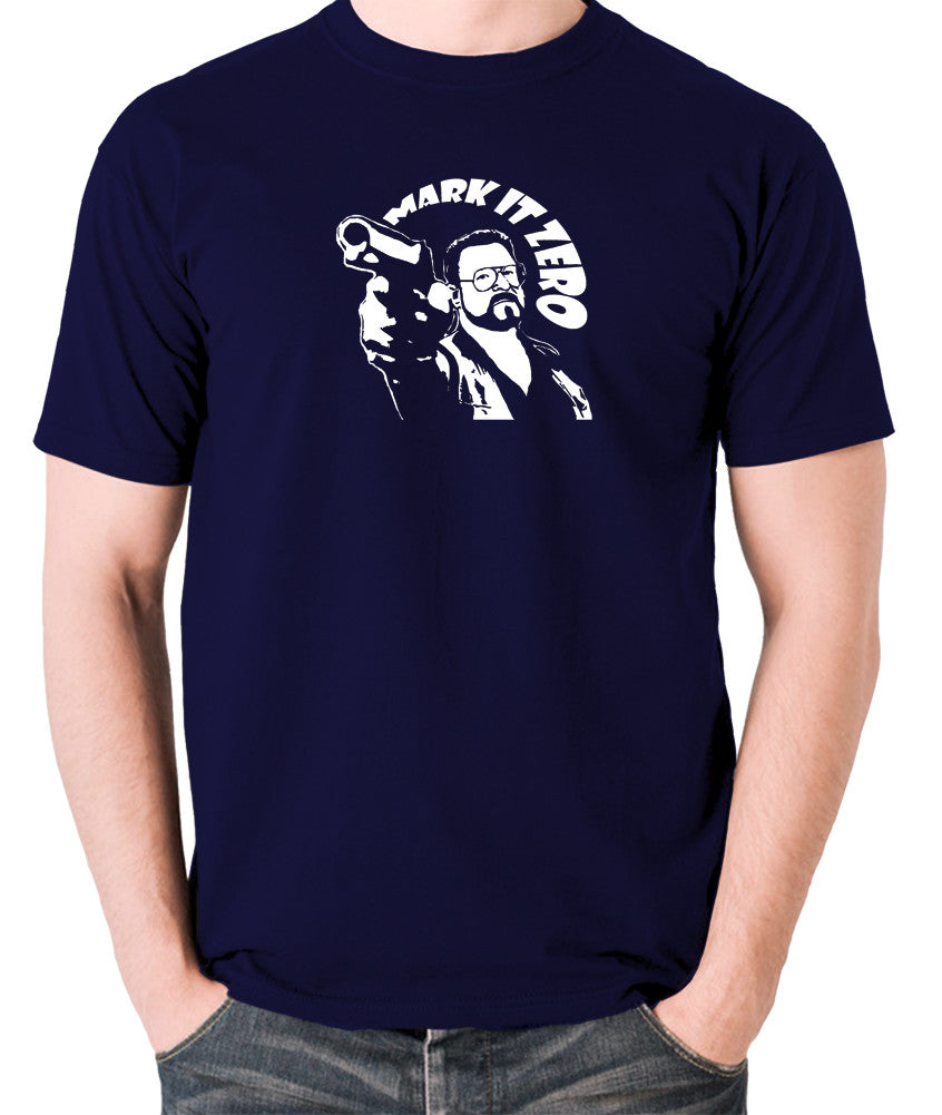 The Big Lebowski - Mark It Zero - Men's T Shirt - navy