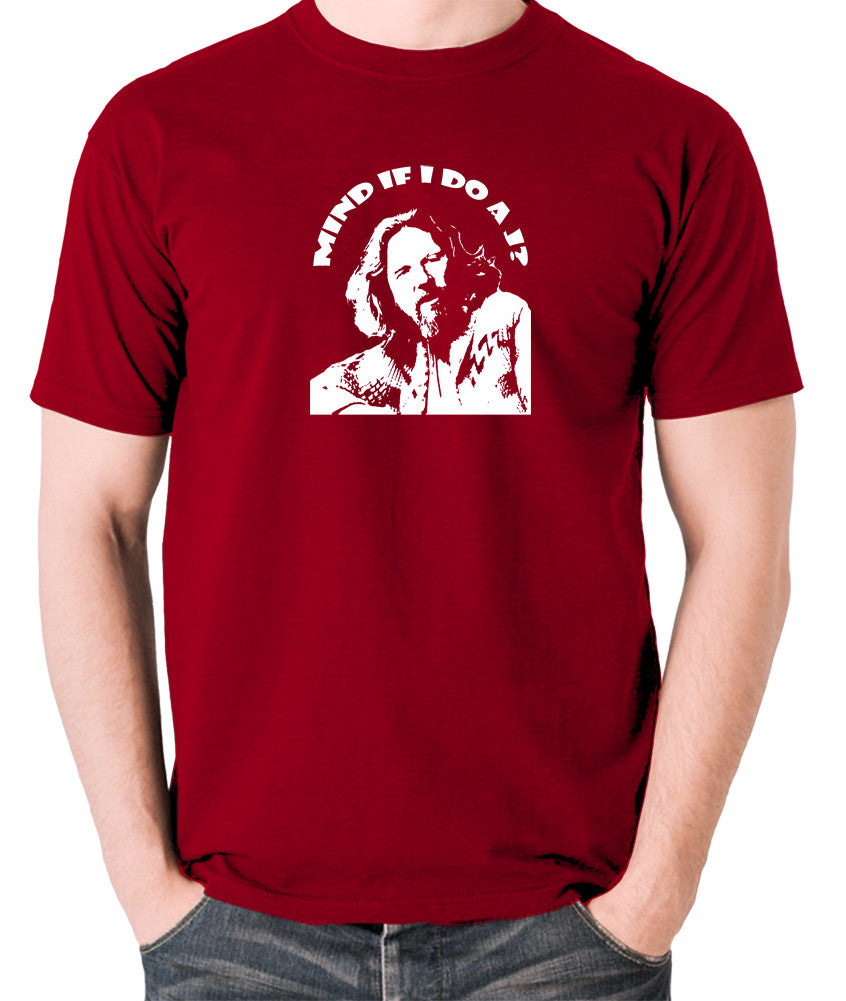 The Big Lebowski - Mind If I Do a J - Men's T Shirt - brick red