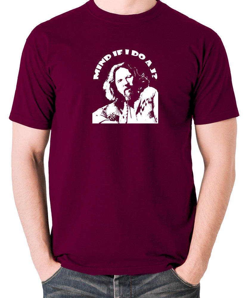 The Big Lebowski - Mind If I Do a J - Men's T Shirt - burgundy