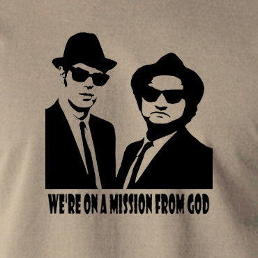 The Blues Brothers - We're On A Mission From God - Men's T Shirt