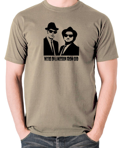 The Blues Brothers - We're On A Mission From God - Men's T Shirt - khaki