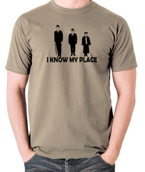 The Frost Report - I Look Down on Him, I Know My Place - Men's T Shirt - khaki