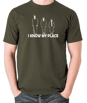 The Frost Report - I Look Down on Him, I Know My Place - Men's T Shirt - olive