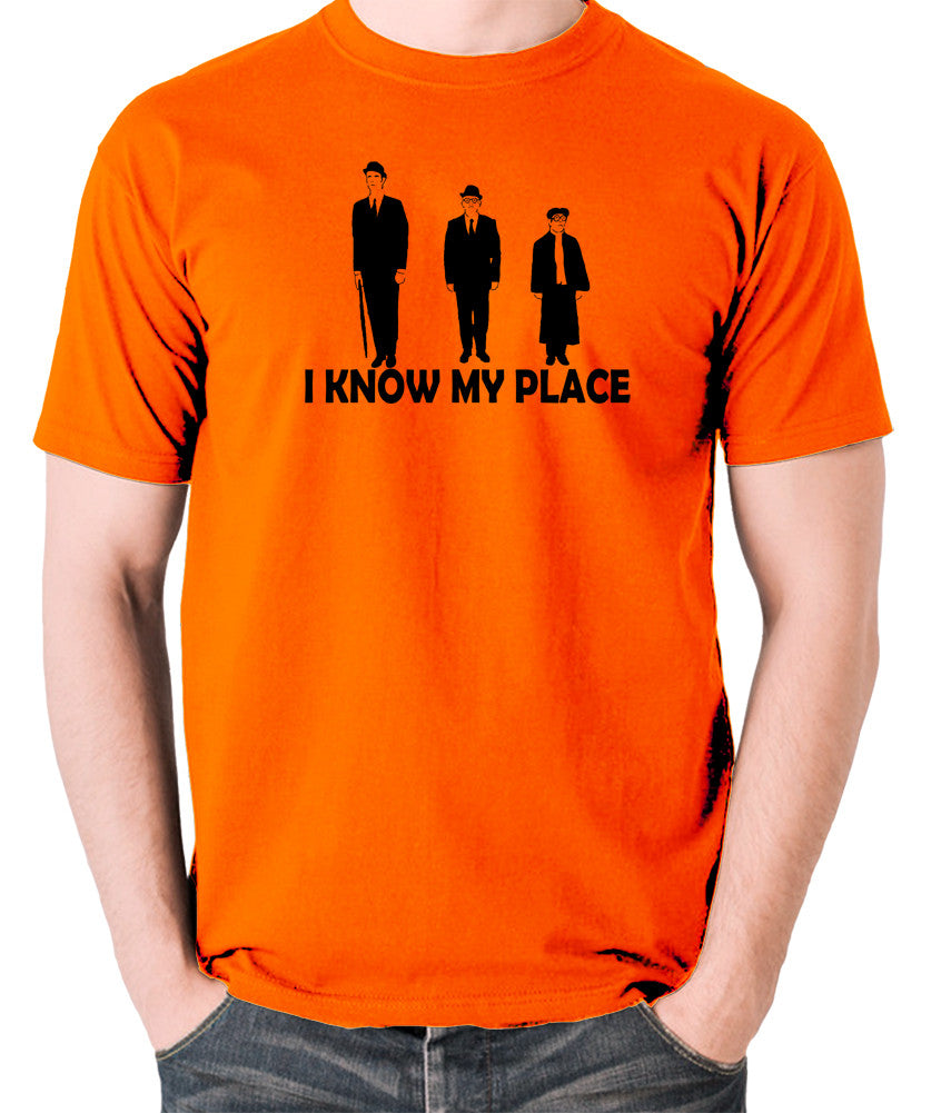 The Frost Report - I Look Down on Him, I Know My Place - Men's T Shirt - orange