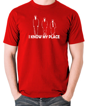 The Frost Report - I Look Down on Him, I Know My Place - Men's T Shirt - red