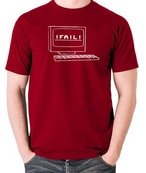 IT Crowd - Fail - Men's T Shirt - brick red